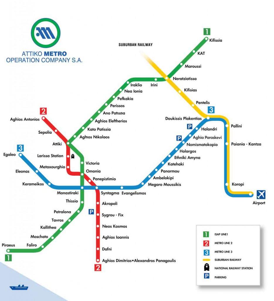 Metro v Athénách