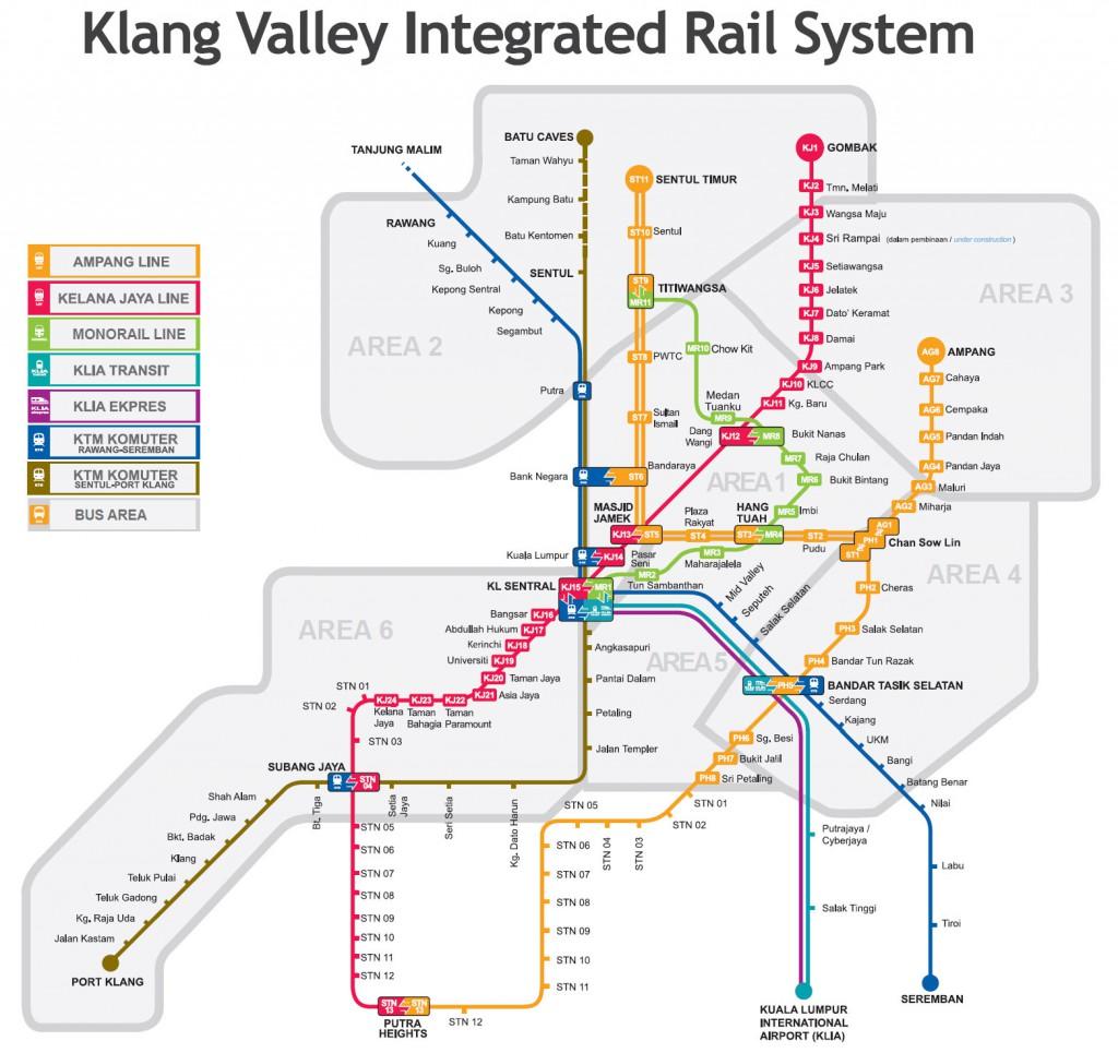 Mapa metra v Kuala Lumpur