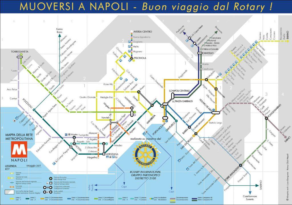 Mapa metra v Neapoli