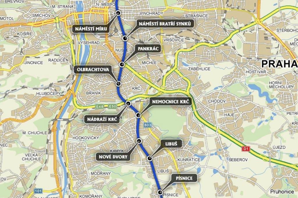 Budoucnost pražského metra je nová trasa D