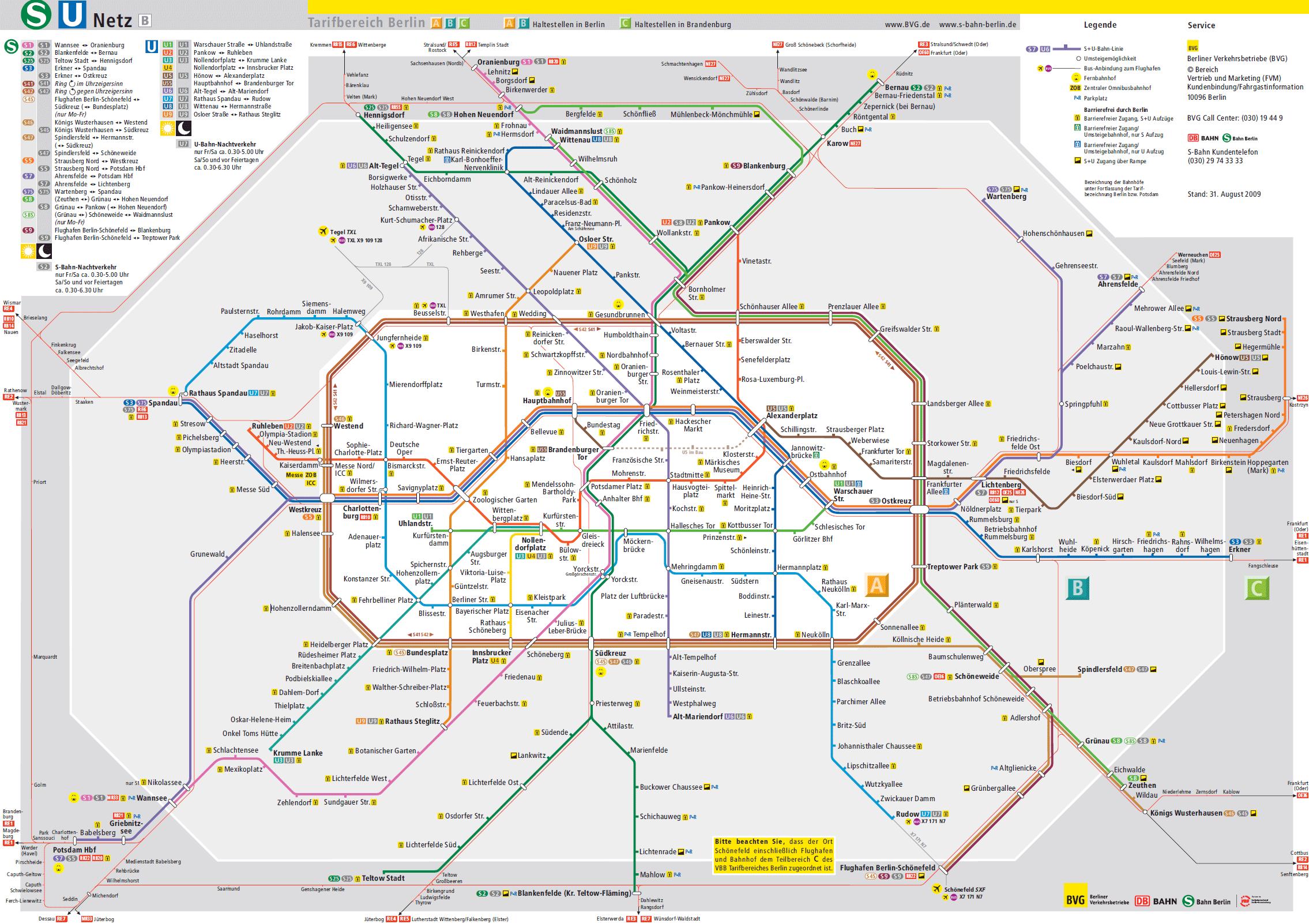 Karta Berlin Bvg.Metro V Berline Informace Jizdenky A Mapa