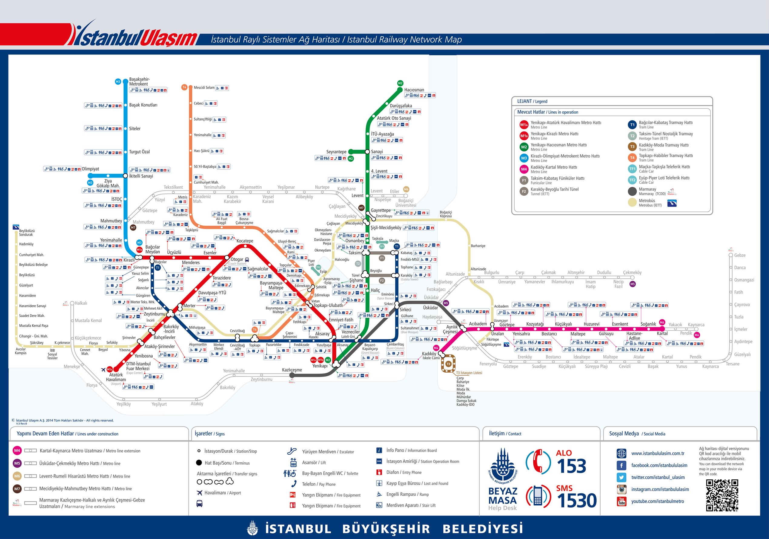 Metro V Istanbulu Mapa Jizdne Doprava