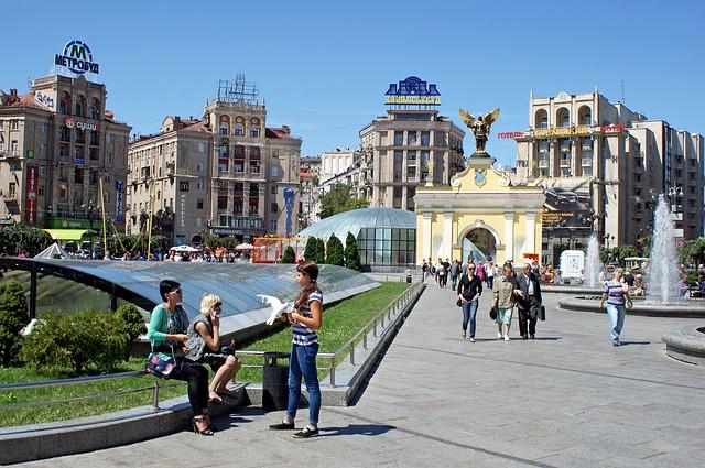Hlavní náměstí Kyjeva - Maidan